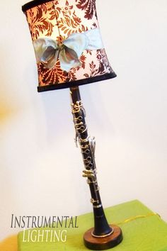 Someday, I will have a clarinet lamp. Maybe I'll make it out of my nasty plastic one. (: