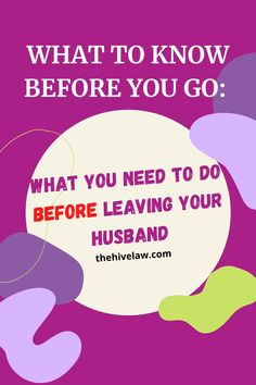[What You Need to Know] How to Leave Your Husband | This checklist prepares you - get your ducks in a row before you leave your marriage. Divorce Attorney, Divorce Lawyers, I Want To Leave, Need To Know, Cost Of Divorce, Contested Divorce, Townhomes For Rent, Divorce Process, Paying Off Credit Cards