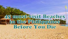 This is why Its More Fun in the Philippines! Top 45 Must-Visit Beaches in the Philippines Before You Die Daily Word, Travel Bugs, Vacation Destinations, Travel Around, More Fun, Philippines, Beaches, Wanderlust, Tours