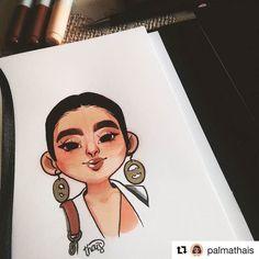 Uma linda ilustração minha feita pela @palmathais  E essas sobrancelhas super marcadas? Amei! Haaha bem minha cara mesmo