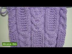 Punto (puntada) ARAN con TRENZAS. Tutorial de tejido con dos agujas # 218 - YouTube