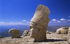 Colossal Head of Antiochus I, Mount Nemrut, Adiyaman,Turkey