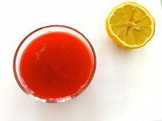 Prova il freschissimo e saporitissimo estratto fragole pesca zenzero e limone ideale per iniziare la giornata e per fare il pieno di vitamina C!