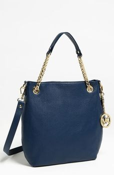 MICHAEL Michael Kors 'Jet Set - Medium' Chain Shoulder Tote Navy in March 2013 Life Meet Style from Nordstrom on shop.CatalogSpree.com, my personal digital mall.