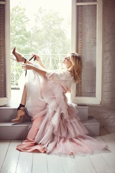 Blush pink tulle skirt & satin heels, pretty pink velvet headboard & some delish profiteroles … have a great weekend x debra. kate hudson in jimmy choo heels via elle, bedroom inspiration photo by patrick cline for lonny, hot fudge marshmallow sundae profiteroles by perpetually hungry.   Dust Jacket on Bloglovin'