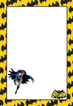 Marcos, Invitaciones, Tarjetas o Etiquetas de Batman para Imprimir Gratis.                                                                                                                                                                                 Más