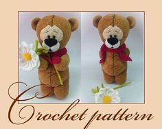 Wonder Teddy Bear  Amigurumi Crochet Pattern PDF file by