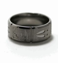 Deer Tracks and Antlers Ring For all you girls out there who have hunters for husbands, here are some titanium animal track wedding bands! Description from pinterest.com. I searched for this on bing.com/images