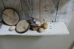 White Pallet Wood Shelf Wall Decor White Reclaimed Wood Wall