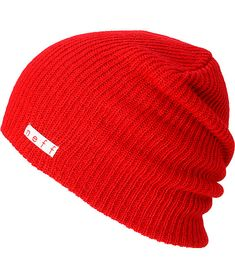 Zoo York Official Men/'s Logo Knitted Speckled Beanie Hat Antique Burgundy Red
