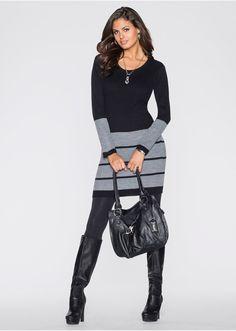 Rochie tricotată cu croi simplu (bonprix) Rebecca Minkoff, Heels, Boots, Sweaters, Outfits, Beautiful, Beauty, Black, Dresses
