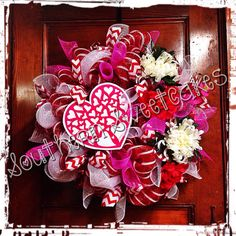 Valentines Day Mesh Wreath!