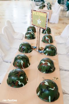 Cleon's Army Boot Camp Birthday Party Army Themed Birthday, Army Birthday Cakes, Army Birthday Parties, Army's Birthday, Birthday Party Themes, Camouflage Party, Camo Party, Nerf Party, Army Party Decorations