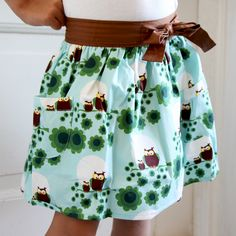 i waaaant - too bad the website is in a different language Cute Skirts, Kids Outfits, High Waisted Skirt, Owl, Clothing, Pattern, Pink, How To Make, Inspiration