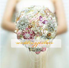 2013 Color Royal Crystal Bouquet  unique bridal by WeddingPalace, $329.00