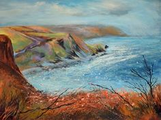 Paintings by Sue Read with elements of the North Cornish coast from Millook to Duckpool and beyond. Cornish Coast, Messy Art, North Coast, Cornwall, Giclee Print, Reading, Link, Artist, Prints