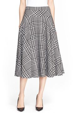 ESCADA Houndstooth A-Line Midi Skirt available at #Nordstrom