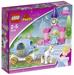LEGO® Disney Cinderella's Carriage Cinderella is riding in her pumpkin carriage to the castle where she is sure to be the belle of the ball. Make sure she gets to the castle steps in time by building...
