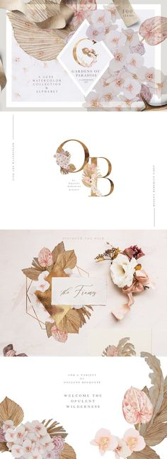 Luxury Blush - Boho Wedding Set by Laras Wonderland on @creativemarket #creativemarket #graphicdesign #design #watercolour #pattern #flowers #floral #inspiration #alphabet #fineart #boho #bohemian #fineart #gold #minimalist