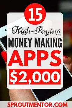 15 money making apps that will help you to make extra cash every month with your smartphone. Learn how to make money online working part time during your free time. by sproutmentor Read Earn Money From Home, Earn Money Online, Online Jobs, Way To Make Money, Online Careers, Best Money Making Apps, Apps That Pay, Making Extra Cash, Marketing Program