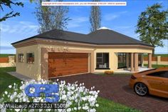 Overall Dimensions- 2 Car GarageArea- Square metres Round House Plans, My House Plans, Garage House Plans, Family House Plans, Modern House Plans, House Floor Plans, Building Costs, Building Plans, Casa Octagonal