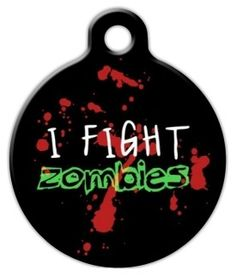 If your pet is ready for the zombie apocalypse, they need this zombie hunter dog tag! Purchase this zombie dog tag from Dog Tag Art online today. Dog Tags Pet, Cat Id Tags, Zombie Fighters, Hunter Dog, Zombie Hunter, Engraved Dog Tags, Custom Dog Tags, Pet Id, Cat Collars