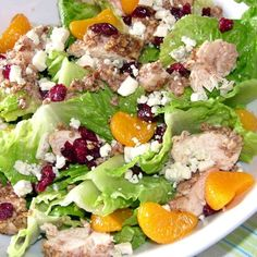 """Pecan Crusted Chicken Salad I """"Tried this recipe for the first time last night and it was a big hit! Very light and refreshing. The mandarin oranges add just a hint of sweetness without being overpowering."""""""