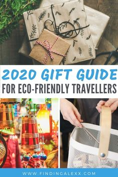 Looking for eco-friendly gifts for travellers? Here's 15 suggestions for epic gifts for any traveller who is passionate about sustainability! From carbon offset gift vouchers to sustainably-sourced clothing to reusable products that minimise plastic, this will help you buy for any travel lover on your gift list. #giftguide #sustainablegifts #giftguide2020 #giftideas #giftsfortravelers #giftsfortravellers #responsibletravel #consciousbuying