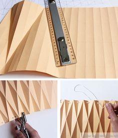 """Tuto pour abat-jour en """"origami"""""""