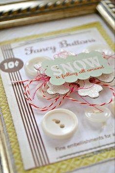love the messy string bundle under the embellishment
