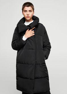 Oversize quilted coat | MANGO