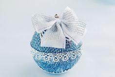 Купить Новогодние шары. Елочное украшение «Зимние кружева» - елочные шары, елочные украшения