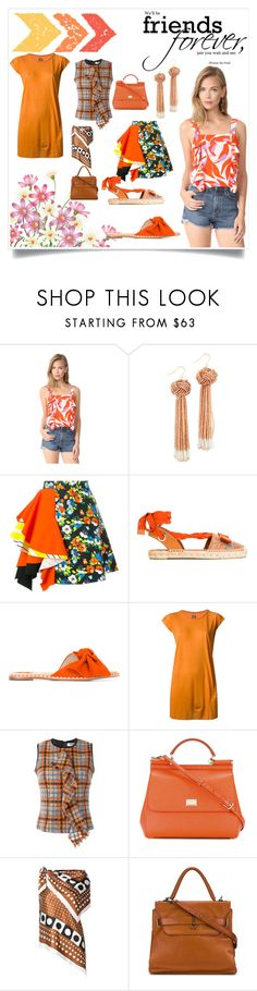 """""""Friends forever"""" by denisee-denisee ❤ liked on Polyvore featuring Chloe Oliver, Vanessa Mooney, MSGM, Salvatore Ferragamo, DRKSHDW, Dolce&Gabbana, Monse and A.F. Vandevorst"""