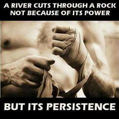 Persistence--so hard when your body feels like lightning bolts of pain are shooting through your body. Those are the days I do Pilates or cut my treadmill time in half. I find excersize actually takes some of the pain away.