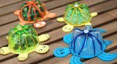 As suas reciclagens podem ficar mais divertidas com esta tartaruga com garrafa pet que além de muito simpática ainda reaproveita materiais recicláveis que