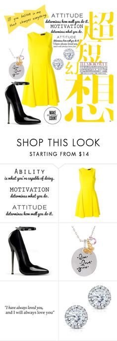 """""""Yellow"""" by kellimagine ❤ liked on Polyvore featuring WALL, Versace, Scatter Joy and Kobelli"""