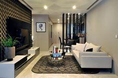 White sofa design ideas small condo living room design with media entertainment and white sofa and . Condo Interior Design, Condo Design, Apartment Interior Design, Luxury Interior, Home Interior, Luxury Condo, Gray Interior, Sofa Design, Design Bedroom