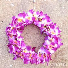 Orchid Purple Hawaiian Haku Flower Hair Band Lei   #hairclips #flowerinhair #hairblossoms #hairaccessories #flowerclips