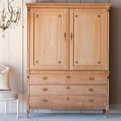 Eloquence One of a Kind Antique Cabinet Neoclassical Dutch