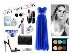 """""""Get the Look: Met Gala 2016"""" by blackqueen08 ❤ liked on Polyvore featuring Notte by Marchesa, Lancôme, Giuseppe Zanotti, Yves Saint Laurent, Bloomingdale's, L'Agent By Agent Provocateur, Giorgio Armani, Dolce&Gabbana, Laura Mercier and Avon"""