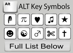 How to Type Symbols Using the ALT Key in 5 Steps ~ I'll probably never take the time to do this, but ya never know...