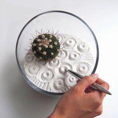 Mini Zen Garten - kreieren Sie eine mini Oase zu Hause! - http://freshideen.com/gartengestaltung/mini-zen-garten.html
