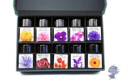 Fountain Pen Ink | Diamine Flowers Set | GouletPens.com