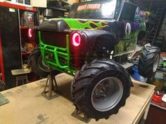 Converting 24v Grave Digger Power Wheels Into an Electric Go-kart With Rubber Tires : 11 Steps (with Pictures) - Instructables Brake Rotors, Brake Calipers, Grave Digger Power Wheels, Electric Go Kart, Mini Trucks, Rubber Tires, Monster Trucks, Pictures, Motorcycles