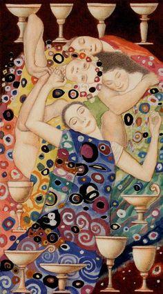 10 de coupes - Tarot de Klimt par A. Atanassov