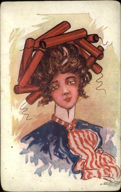 Fourth 4th of July Patriotic Lady Liberty Crown of Firecrackers c1910 Postcard