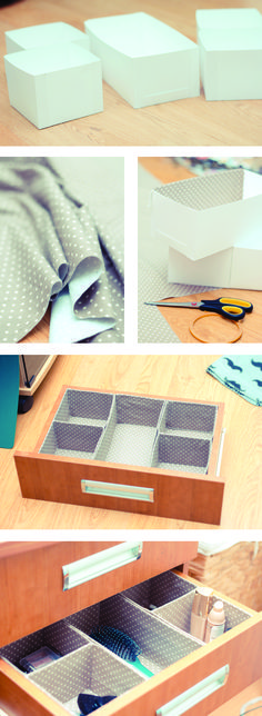DIY make up organiser