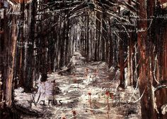 Name: Anselm Kiefer Title: Varus Year: 1976 Medium: Oil and acrylic on canvas, 200 x 270 cm Anselm Kiefer, Nocturne, Statues, Expo, Black Forest, Snowy Forest, Museum Of Fine Arts, Mixed Media Art, Van Gogh