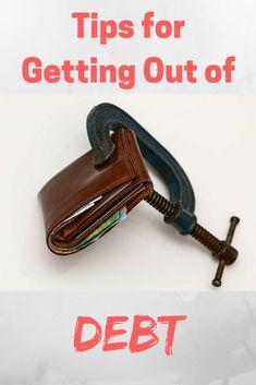 Tips for Getting Out of Debt - Debt Discipline - Sharing my best tips for digging your way out of debt.  via @debtdiscipline