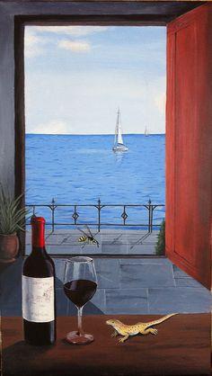 My favorite artist The Door Into Summer, Alcoholic Drinks, Wine, Explore, Glass, Artist, Painting, Drinkware, Corning Glass